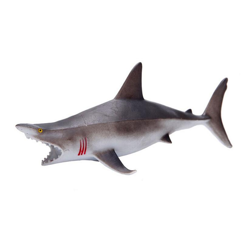 1pcs PVC Simulation Sea Life Shark Action Figure Toy With Sound Children Early Education Toys Kids Birthday Gifts