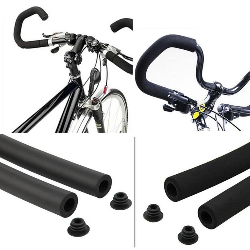 Bicycle Bike MTB Rough Sponge Handlebar Grip Foam Handle Pad Lock-On Tube Single