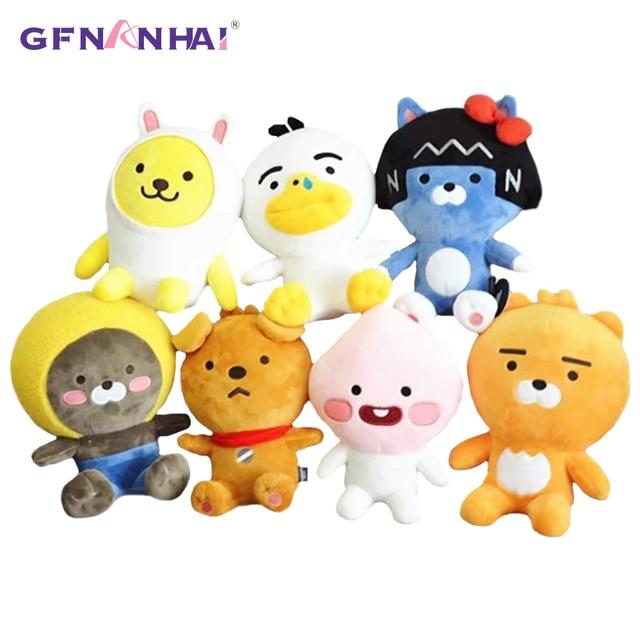 1pc 25cm Cute Korean Kakao Friends Plush Toy Baby Kids Kawaii Finger