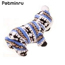 Petminru осенне-зимняя одежда для собак, теплые флисовые толстовки с принтом, пальто, одежда для маленьких и больших собак, одежда для домашних животных, пальто, костюм