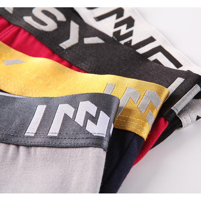 Innersy Shorts Mens 4Pcslot Underwear Soft Boxers Cotton Boxer Men Solid Boxer Shorts Plus Size Boxers Mens Underwear Lot