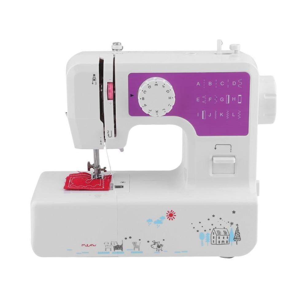 Мини Портативная ручная швейная машинка с двумя скоростными стежками шитье Рукоделие беспроводные ткани электрическая швейная машина с по... - 2