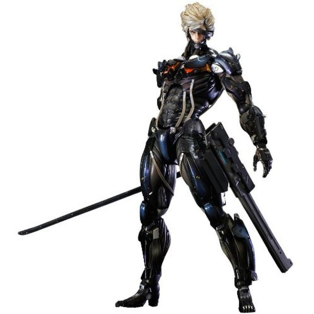 Metal Gear Solid Rising Revengeance RAIDEN Play Arts Kai 11 Figure No Box Free Shipping