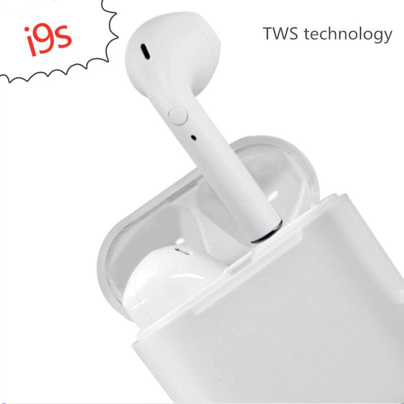 I9s TWS Mini écouteur sans fil Bluetooth casque stéréo avec micro Kit de voiture mains libres Bluetooth invisible pour téléphone intelligent