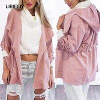 Nice Pop Sales Womens Warm Fashion Hooded Long Coat Wind Coat Windbreaker Outwear