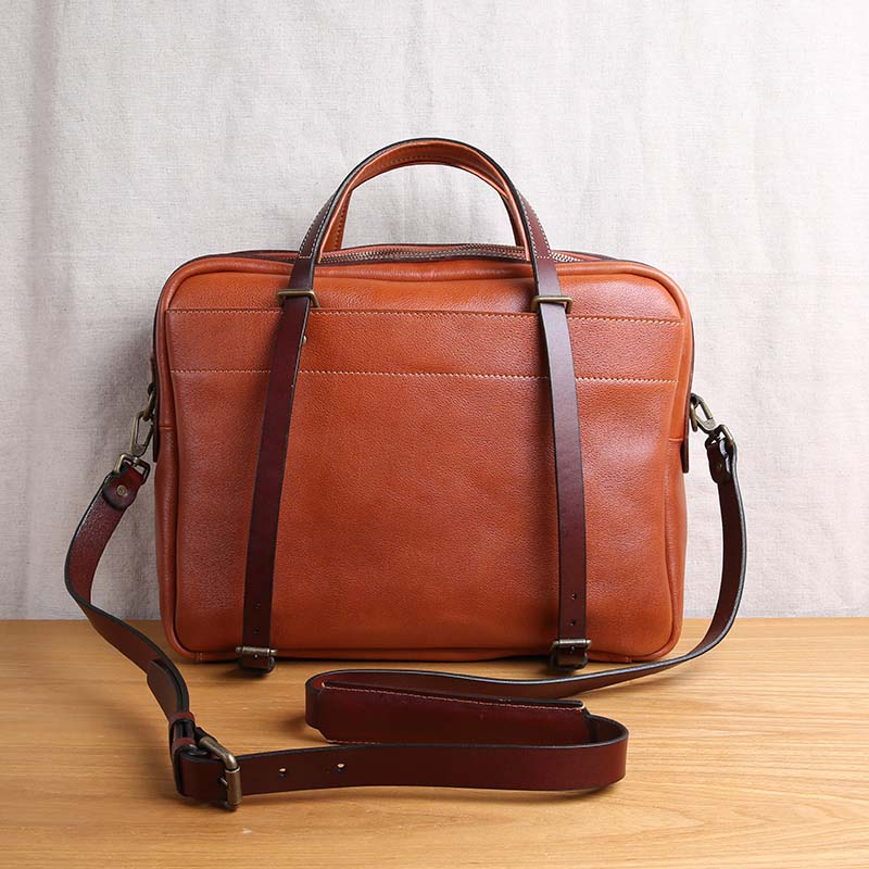 AETOO Imported vegetable tanned leather mens handbag leather business briefcase large capacity cross section mens bagAETOO Imported vegetable tanned leather mens handbag leather business briefcase large capacity cross section mens bag
