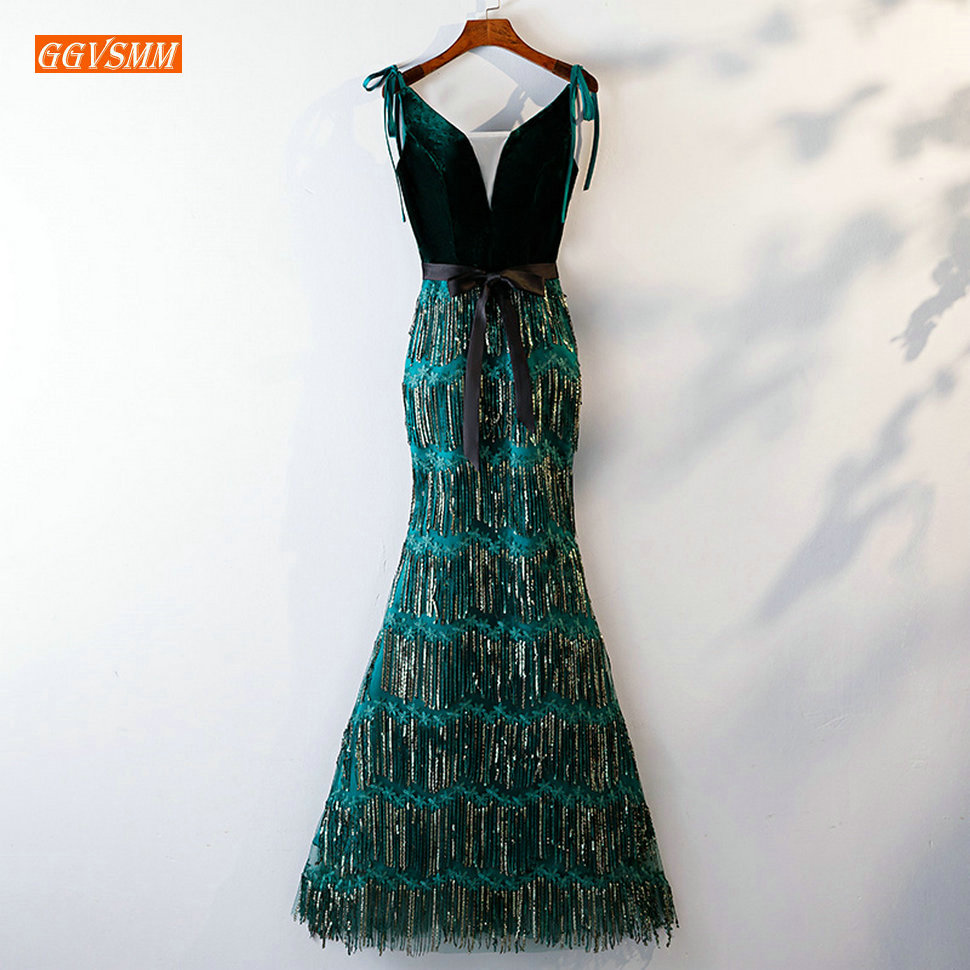 Luxury Peacock Blue Mermaid Formal Dress Women Elegant Evening Gown 2019 Special Occasion Long Dresses Evening Sequined Banquet