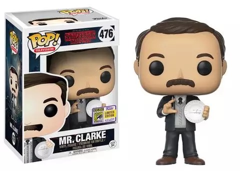 2017 Summer Con Exclusive & SDCC Sticker Funko pop Stranger Things - Mr Clarke Official Vinyl Figure Collectible Model Toy стоимость