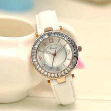 JW742 KIMIO High Quality Brand Natural Pearl Shell Watch Face Fancy Alloy Case Shinning Rhinestone Lady Wristchwatch
