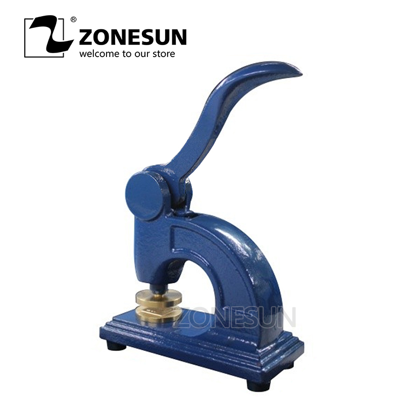 ZONESUN HF1 Design Customize Logo Embossed Stamp Stainless Steel Seal for Office Bussiness And Unversity Document customize wedding league logo diy seal stamps sealing wax stamp wax seal stamp custom design scrapbooking