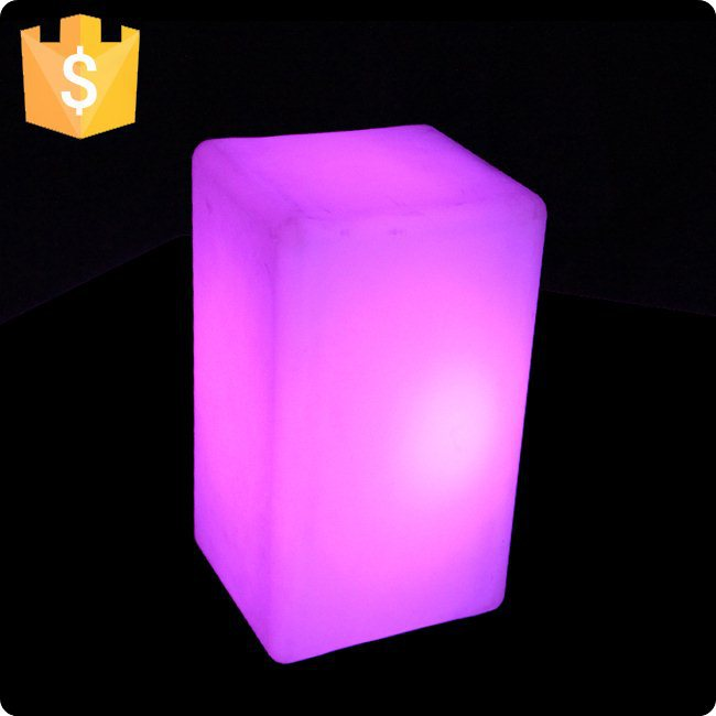 L10*W10*H15cm SK-LF03F LED Table Lamp Modern Decorative 16 Color Mini Cube Waterproof IP65 For Bedroom Hotel free shipping 1pc