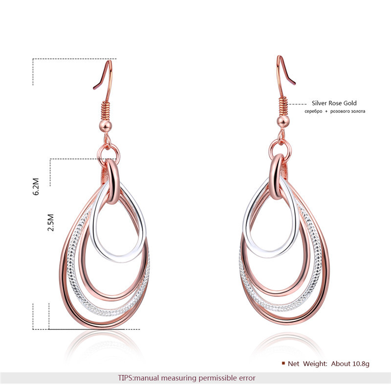 Mix Color Multi layer Dangle Earring for Women Round Geometry Water Drop Statement Hanging Earring in Drop Earrings from Jewelry Accessories