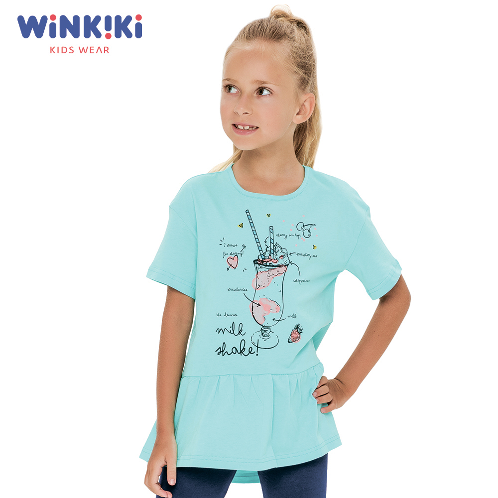T-Shirts WINKIKI WJG91401 T-shirt kids children clothing Cotton White Girls Casual shein kiddie white cartoon print casual t shirt toddler girl tops 2019 spring fashion short sleeve girls shirts kids tee