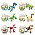 Случайная Поставка!! ассамблея Деформации Яйца Динозавров Пластиковые Юрского Новинка Обучающие T-REX Динозавров Игрушки Подарок для Детей