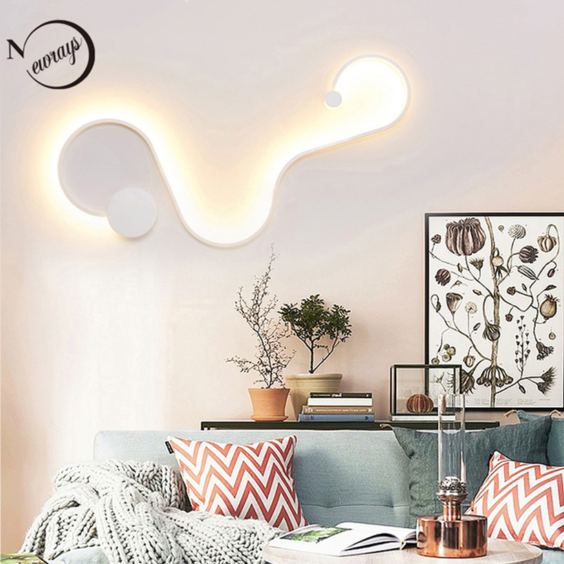 цена на Modern novelty acrylic letter wall lamp LED personalized creative painted wall lights for bedroom living room hotel room bedside