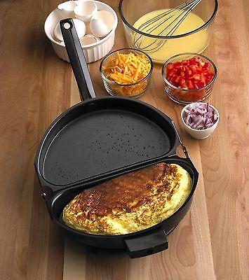 Nonstick Folding Omelet Fry Pan Maker Frying Breakfast Egg Skillet