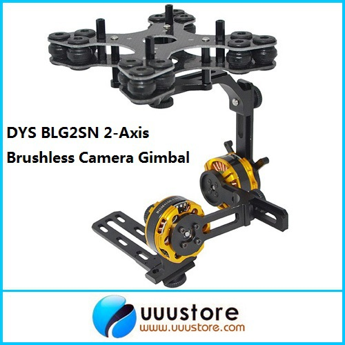 FPV BLG2SN 2-Axis Glass Fiber Brushless Camera Gimbal Mount w/2 BGM4108-130 Motors RTF for FPV Aerial Photography hj5208 75t brushless gimbal motor for 5d2 camera fpv aerial photography black