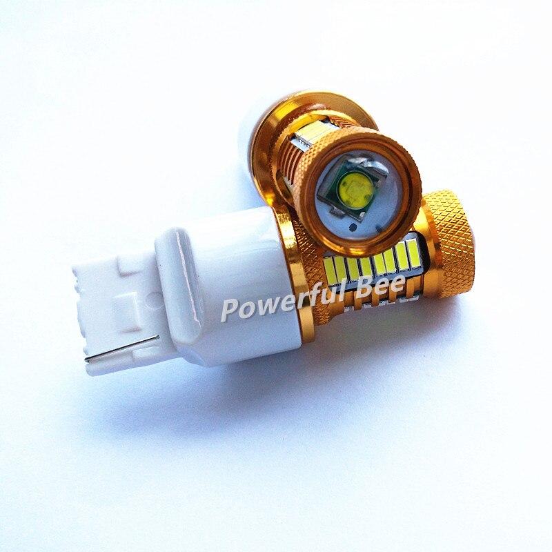 2 х T20/7440 золотой алюминия 18W свет 700lm супер белый светодиодных автомобилей дневные ходовые обратный тормоз остановить хвост света Лампа