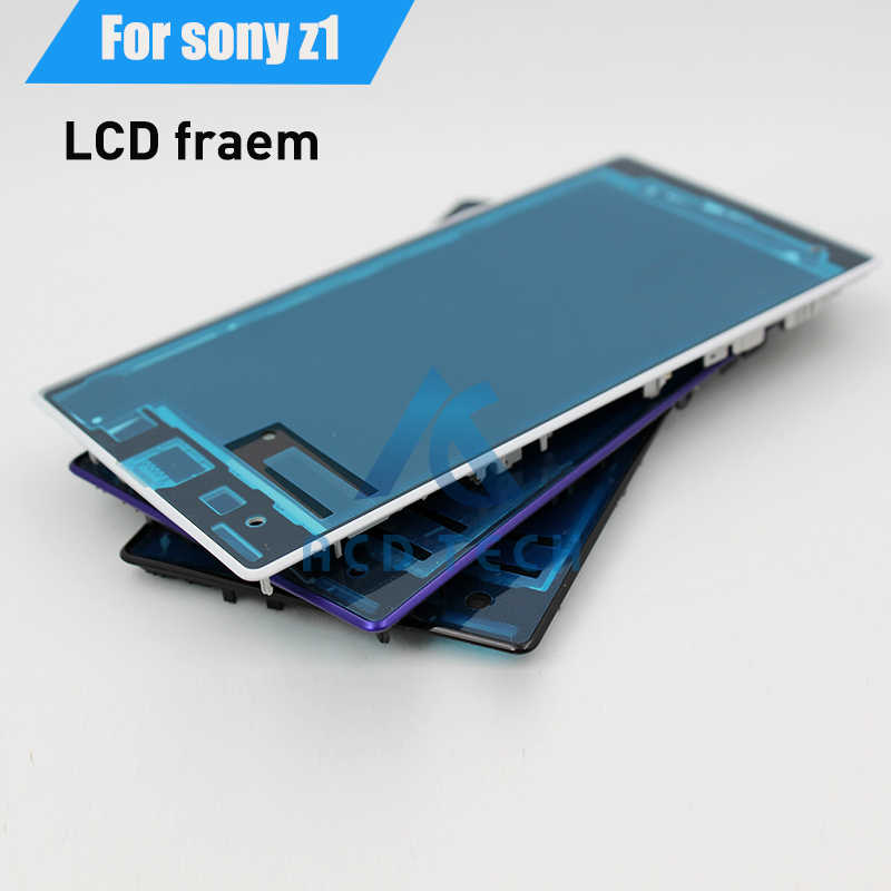 Original Replacement Front Phone Frame LCD Display Screen Frame Housing For Sony Xperia Z1 L39H C6903