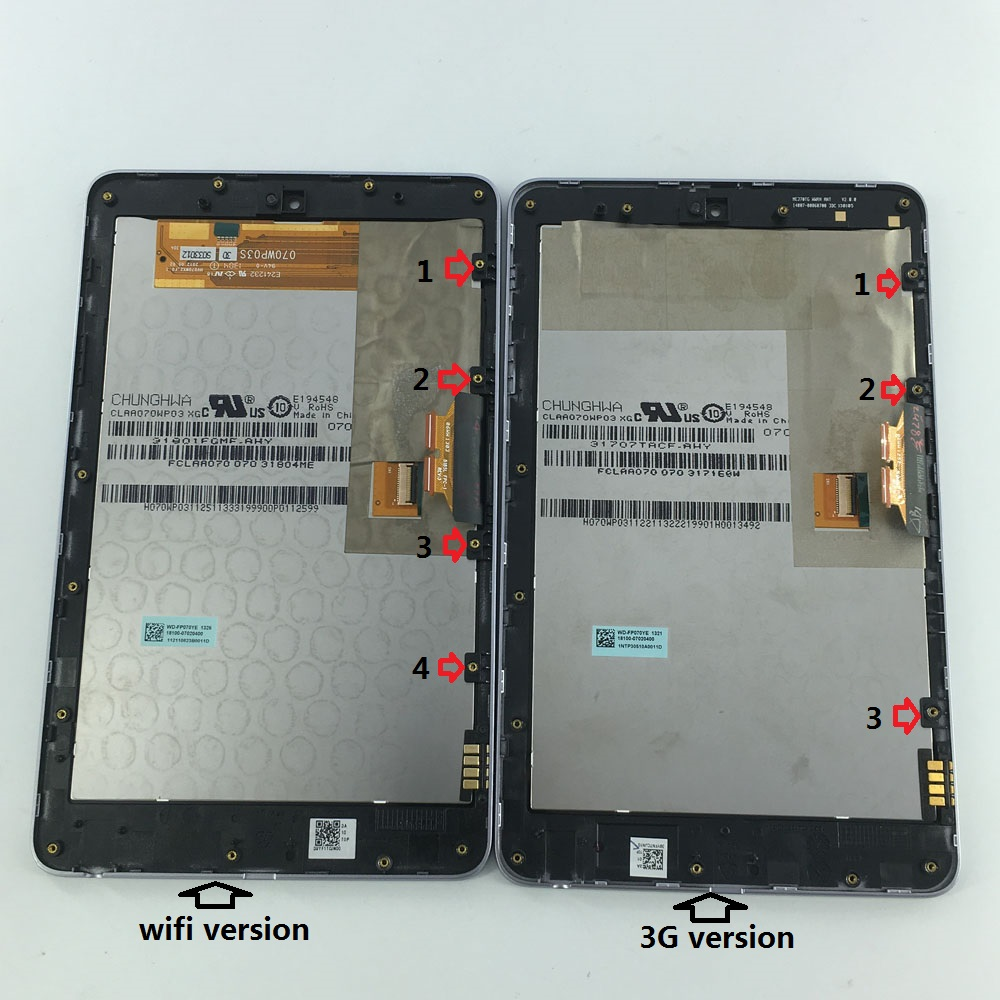 new LCD display+Touch Digitizer Screen Assembly for ASUS Google Nexus 7 nexus7 2012 ME370T ME370TG nexus7c 3G or wifi version 7 inch for asus memopad hd7 me173 me173x k00b innolux version lcd display touch screen digitizer assembly