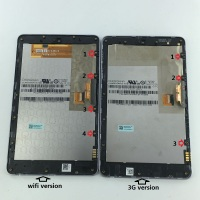 New LCD Display Touch Digitizer Screen Assembly With Frame For ASUS Google Nexus 7 Nexus7 2012