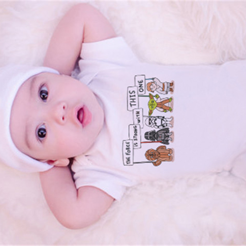 2018 Funny Baby Bodysuit White Babykleding New Born Bodysuit Animal - Babykleding - Foto 6