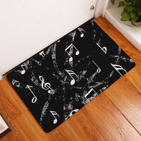 Carpet Piano key Note Rugs and carpets for home living,Bathroom room Flannel Non slip 40x60cm Alfombras de sala tapetes tapis