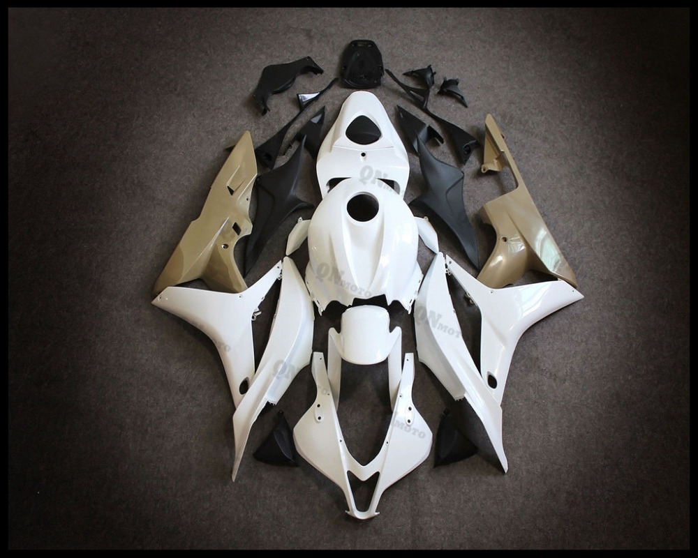 Motorcycle ABS Unpainted White Fairing Kit For Honda CBR600RR CBR600 RR CBR 600RR 2007-2008 F5 + 3 Gift for honda cbr600rr 2007 2008 2009 2010 2011 2012 motorbike seat cover cbr 600 rr motorcycle red fairing rear sear cowl cover