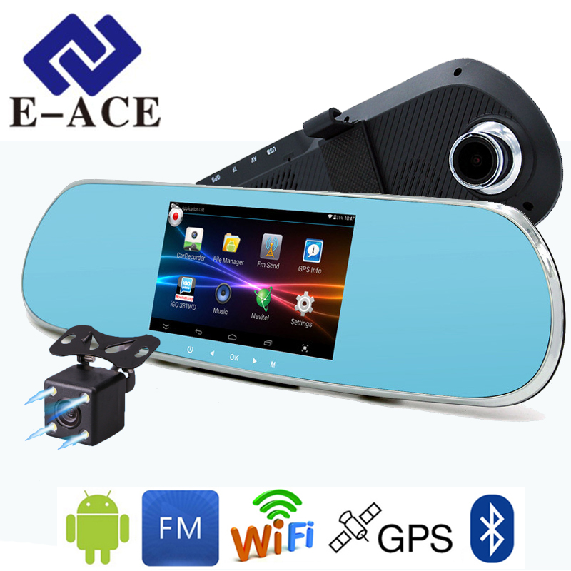 E ACE 5 0 Inch Android GPS Car Dvr Radar Detector WIFI Bluetooth Automotive Rear View