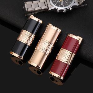 Image 1 - 2019 Nuovo Cigar Lighter Pen Torcia Turbo Accendino Compact Jet Accendino A Gas Antivento All Metal 1300 C Butano No Gas