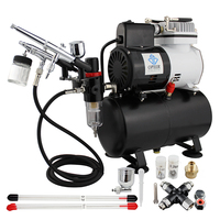 OPHIR Airbrush Kits Air Compressor with Splitter Suitable for Cake Decoration Temporary Tattoo_AC115+004A+074+038