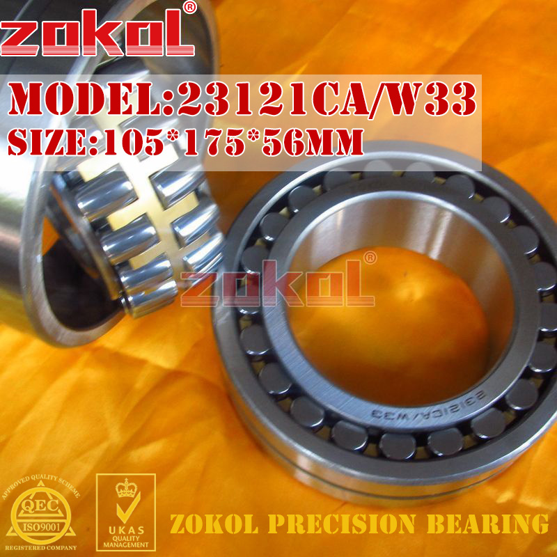 ZOKOL bearing 23121CA W33 23121CA/W33 Spherical Roller bearing 3053721HK self-aligning roller bearing 105*175*56mm mochu 22213 22213ca 22213ca w33 65x120x31 53513 53513hk spherical roller bearings self aligning cylindrical bore
