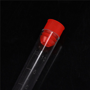16x100mm  10pcs  Round Bottle Tubes Creative Clear Plastic Test Tubes with Caps Lab 2