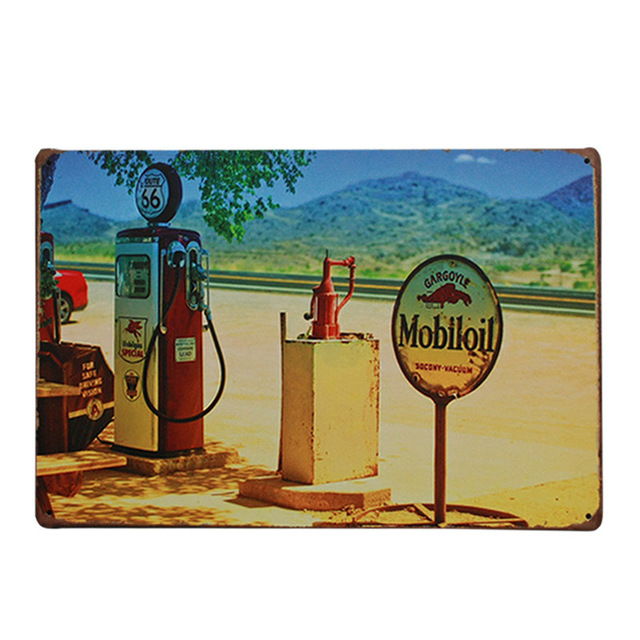 Customed American Most Popular Shield Route 66 Sign Metal Tin Sign Mini Tag License Plate 20*30cm