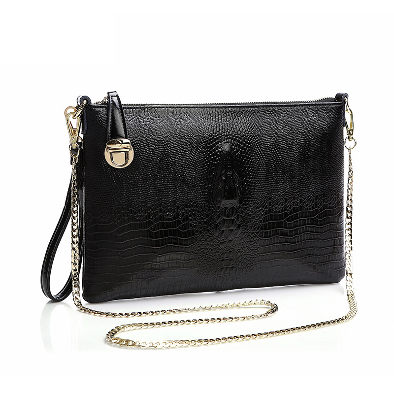 Work Messenger Bag Women Clutches Bolsa Feminina File Packet Evening Clutch Bags Chain Shoulder Genuine Leather Day