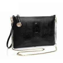 Work Messenger Bag Women Clutches Bolsa Feminina File Packet Evening Clutch Bags Chain Shoulder Bag Genuine Leather Day Clutches
