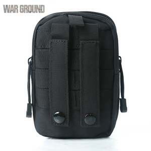 Image 5 - WAR GROUND Tactical Belt Waist bag Molle Hunting Pouch Camping  Waterproof Mobile Pocket Running Outdoor Small Bag  For Iphone