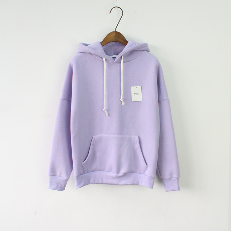 Solid Hooded Hoodies for Women 2017 Hot s