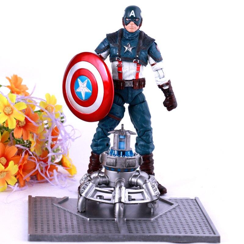 Avengers:Infinity War Superhero Captain America Battle Steve Rogers PVC Action Figure DC Comics Collectible Model Toy L2017