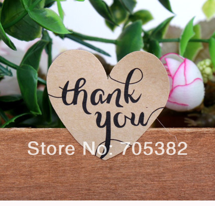100pcs/lot Brown seal sticker  Thank You Kawaii heart adhesive stickers for homemade bakery&gift zakka packaging(ss-6846) kenneth cole reaction women s beauty in belize skirted bikini bottom