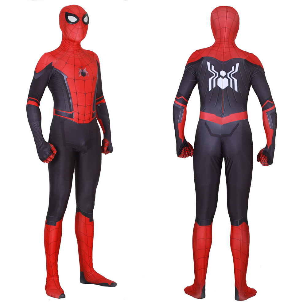 Aliexpress.com  Comprar Nuevo Hombre Araña lejos de casa a trajes de Peter  Parker Cosplay Zentai traje de mono niños adultos Spiderman superhéroe  monos de ... aad558a89805