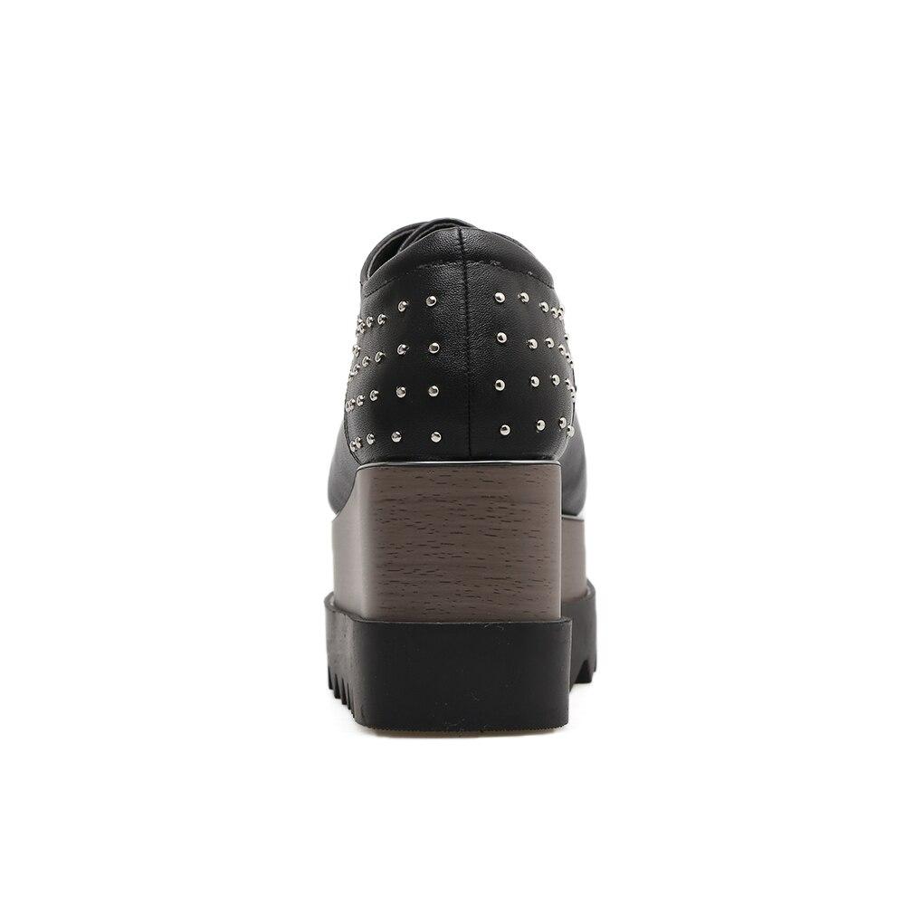Femmes Femme a 763 Des Dentelle Hauts Pompes Soirée Nouveau Chaussures up 2018 Noir Colorant forme De Talons Dye Bout Rivet Mode Carré Plate Xaxbxc D'été BUg7Pwqx