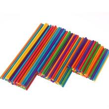 50 шт цветные круглые деревянные палки для детского сада, Детские ручные материалы, креативные деревянные поделки, детские подарки, декупажные деревянные украшения