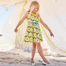 Baby Girl Dresses Kids Floral Princess Dress Beautiful Flower Printed Summer Princess Party Dress Children Clothes(China)
