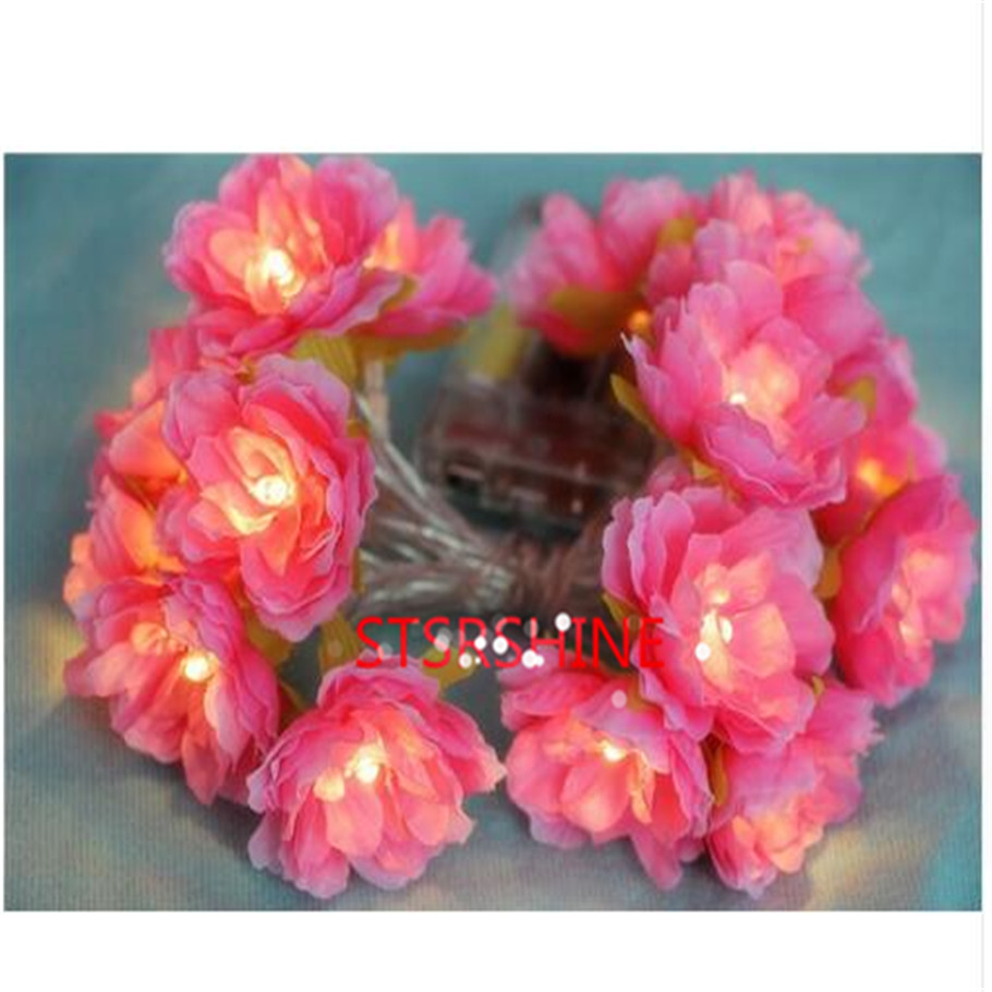Diy flower string lights - Novelty 2m 20 Led Flower Lights Fairy Lights Floral Aa Battery Operated Wedding Decoration Party Christmas