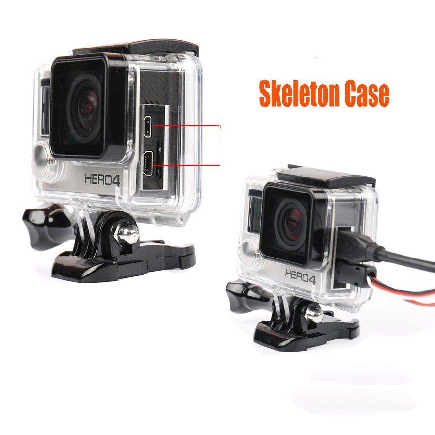 Go Pro Accessories Skeleton Protective Housing Case Open Side Protecto