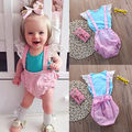 Newborn Toddler Kids Baby Girls Outfit Clothes T-shirt Tops Strap Pants 2PCS Set Baby Girl Clothing Set Clothes Set