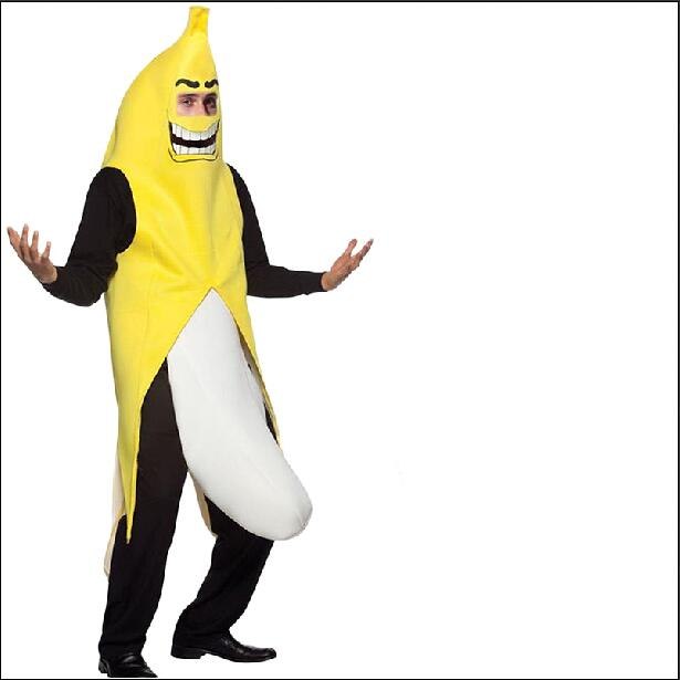 Funny Sexy Banana  Men Adult cosplay Costume  novelty halloween Christmas carnival party decorations