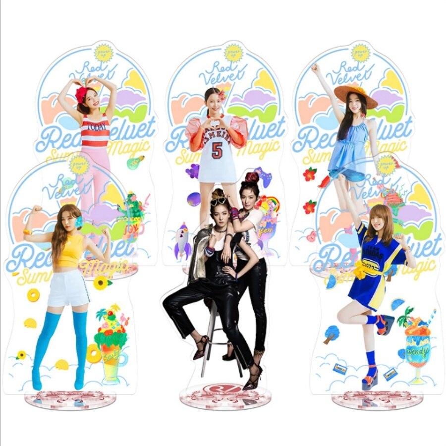 Kpop Red Velvet Members Acrylic Standee Figure Doll Joy Irene Yeri Standing Table Decor 22cm