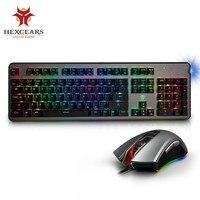 HEXGEARS GK755 B клавиатура Мышь комбо кадров в секунду Мышь геймер механическая клавиатура Подсветка RGB макро Мышь PC Gamer клавиатура Мышь комплект